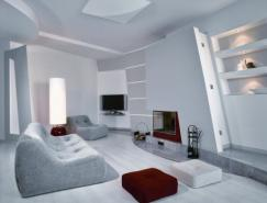 極簡的灰色裝修風格公寓設計