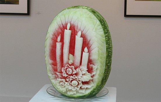 令人惊叹的的西瓜创意雕塑(2)