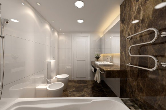 国外现代华丽的浴室设计