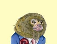 RyanBerkley动物穿礼服的插画作品