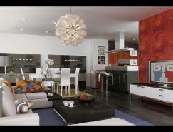 設計師OrlandoToro客廳效果圖設計