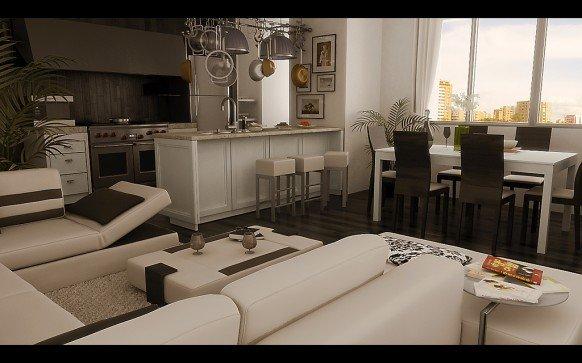 设计师OrlandoToro客厅效果图设计
