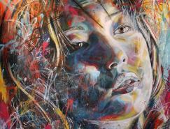DavidWalker街頭藝術:噴漆人像畫
