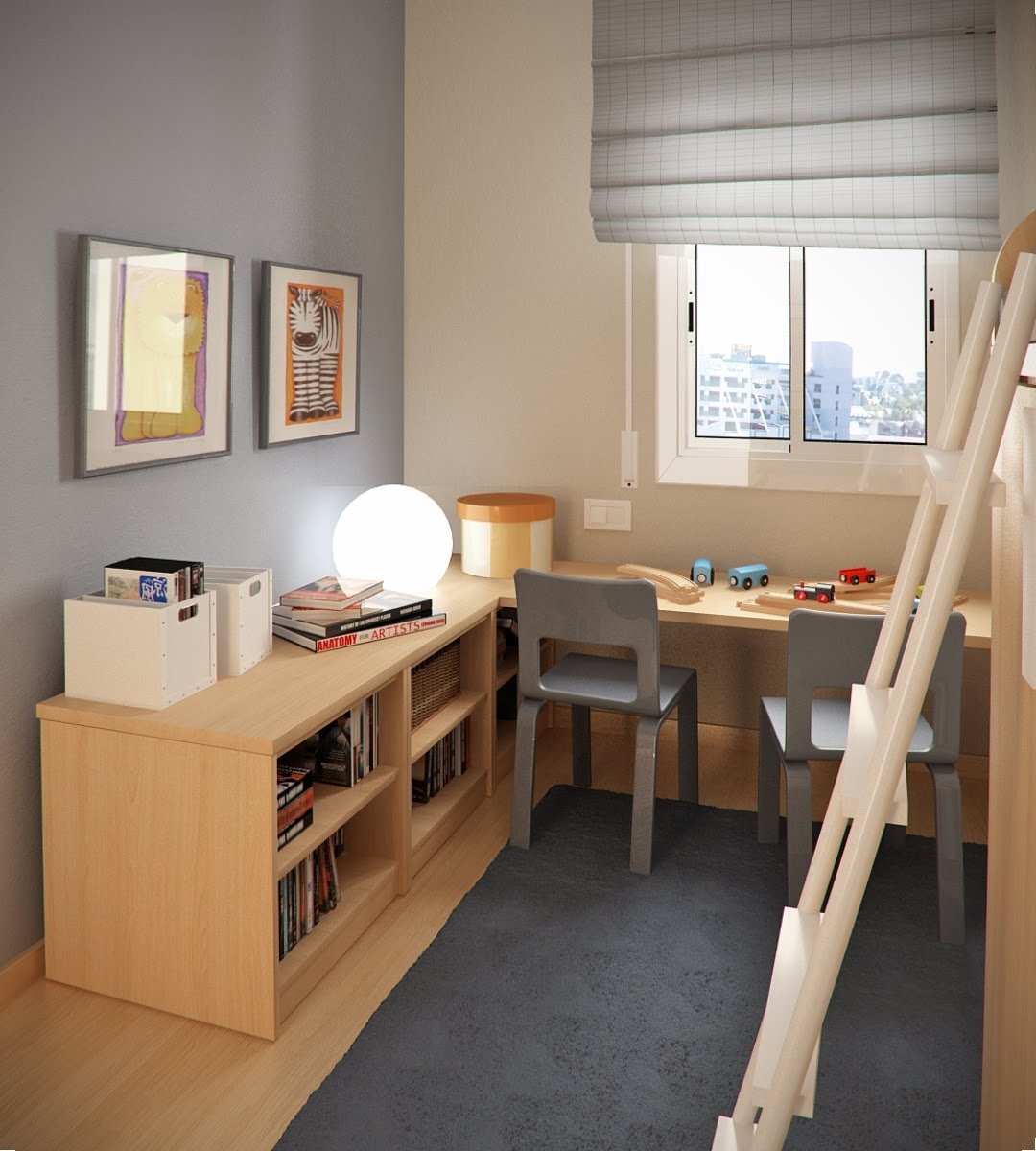 25 Kids Study Room Designs Decorating Ideas: 小空间儿童房设计(2)