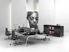 8款典雅实用的组合办公桌设计