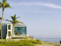 佛罗里达州白色海景别墅