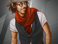 乌拉圭艺术家MartinAnsin名人肖像插画