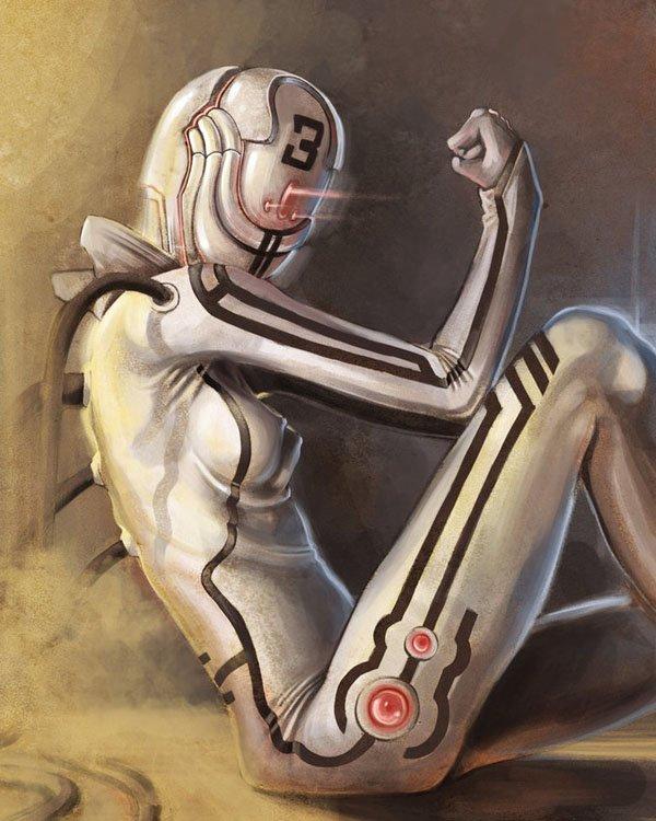 数字艺术作品:女性机器人 设计之家