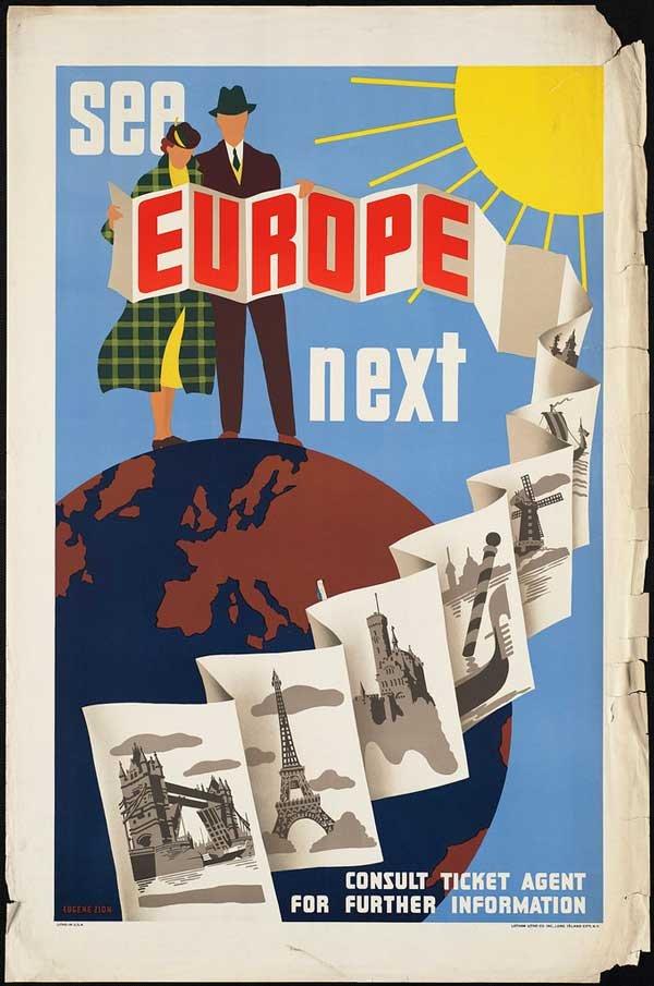 国外旅游创意海报_国外老式旅游海报设计(5) - 设计之家