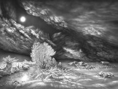 GuramDolenjashvili超逼真风景铅笔画