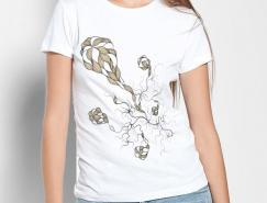 漂亮的T恤插画设计