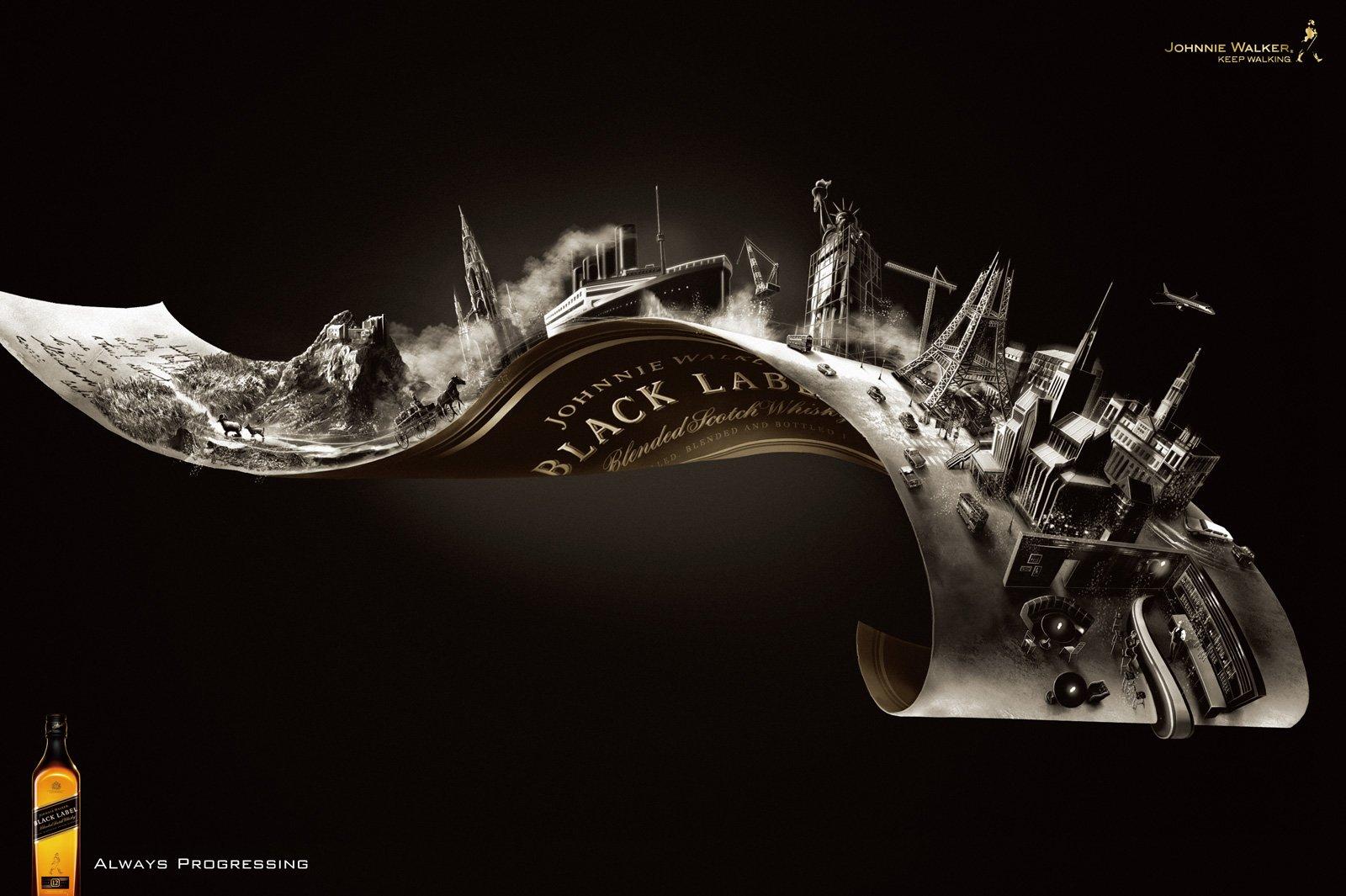 丰富的口味:Johnnie Walker威士忌广告