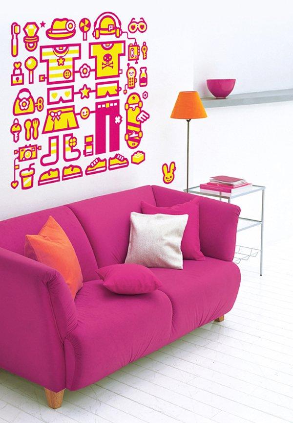 创意墙贴插画欣赏
