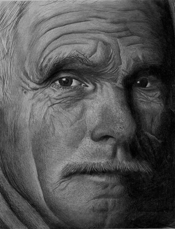 加拿大denis poirier 漂亮的铅笔肖像画作品