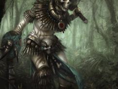 游戏角色设计和怪物概念CG作