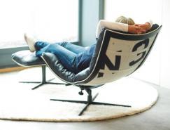 使用回收帆布的舒适、多功能