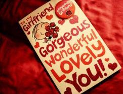 浪漫的情人節賀卡設計
