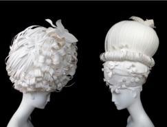创意十足的纸艺剪纸假发