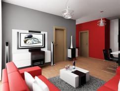 斯洛伐克一套单身小公寓室内设计