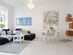 78平米瑞典优雅迷人的公寓设计