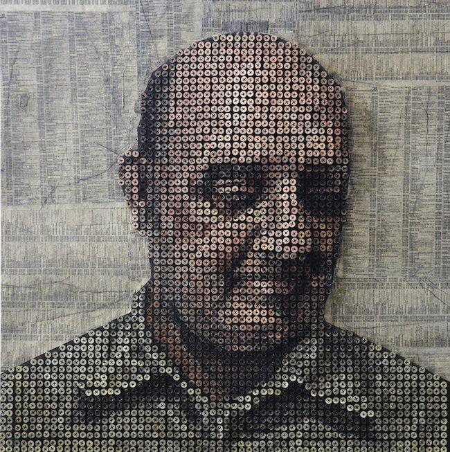 惊人的艺术:螺纹钉打造3D肖像