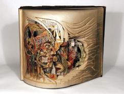 BrianDettmer惊人的旧书立体雕刻艺术