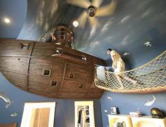 疯狂的海盗船主题儿童卧室设计