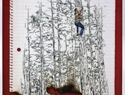 墨西哥画家HugoLugo:笔记本上的故事素描