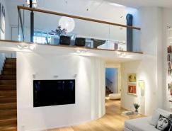 斯德哥爾摩一套復式公寓室內設計