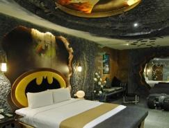 蝙蝠俠主題的汽車旅館客房設計