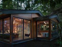 森林中的豪华木质别墅设计