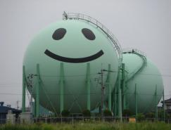 超可爱的日本天然气罐喷绘艺