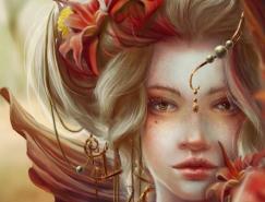 JennyLee:完美的女性肖像CG作品