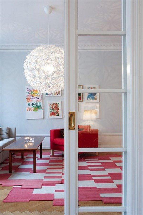 舒服的颜色:斯德哥尔摩87平米公寓设计