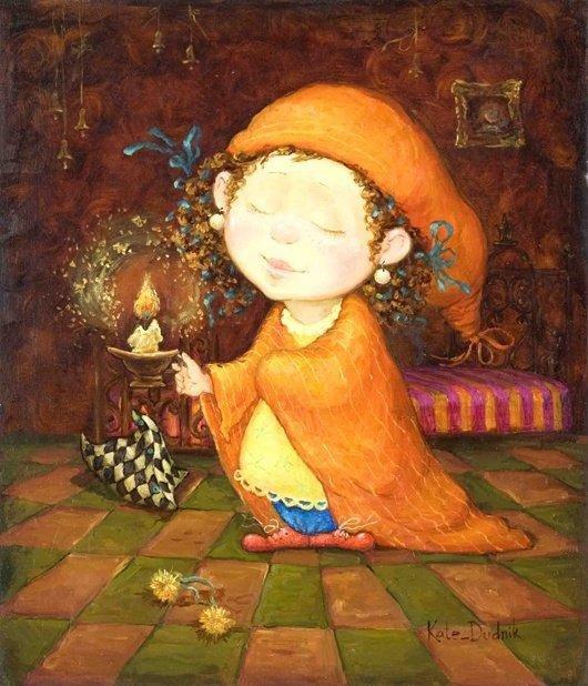 可爱的儿童:kate dudnik绘画作品