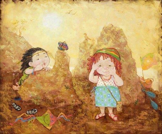 可爱的儿童:kate dudnik绘画作品(3) - 设计之家
