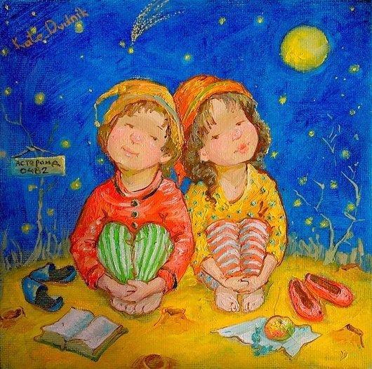 可爱的儿童:kate dudnik绘画作品(7) - 设计之家