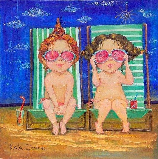 可爱的儿童:kate dudnik绘画作品(8) - 设计之家