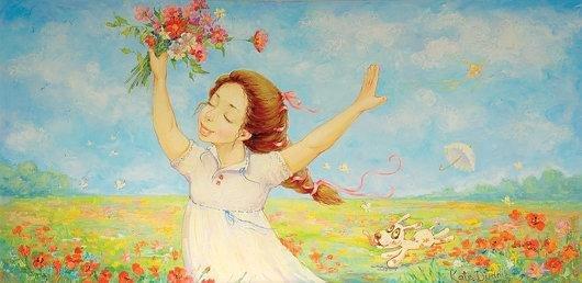 可爱的儿童:kate dudnik绘画作品(10)