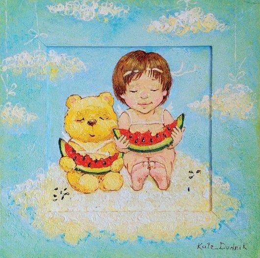 可爱的儿童:kate dudnik绘画作品(10) - 设计之家