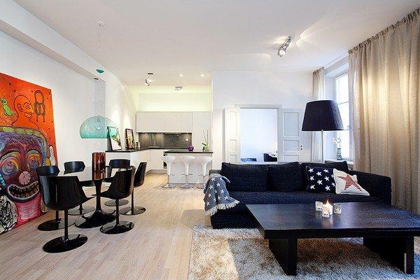 斯德哥尔摩一套雅致装修的83平米公寓