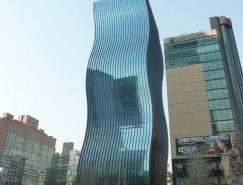 波浪般起伏的玻璃幕墙:韩国GTTowerEas