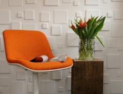甘蔗纖維作為材料:100%環保的3D立體墻紙