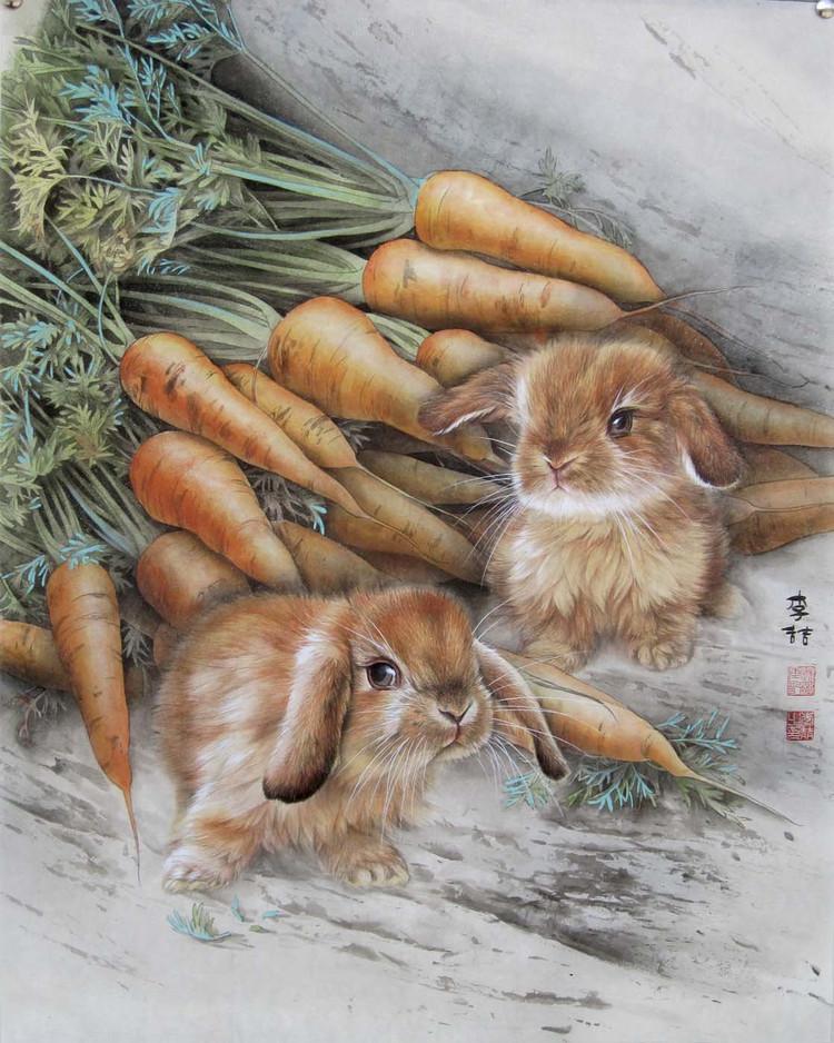 李喆工笔画作品欣赏(2)
