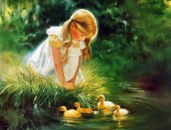 DonaldZolan儿童水彩画作