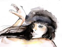 SvetlanaIhsanova线描人物插画