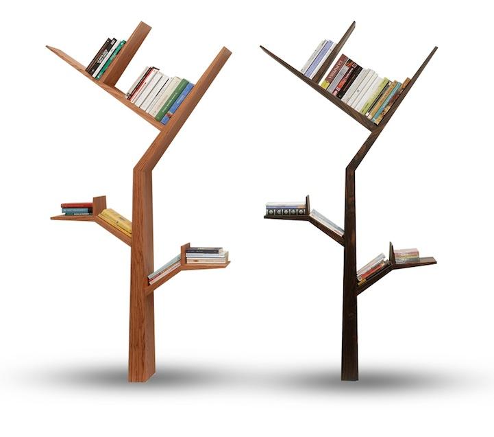 树形书架:只需要两颗螺丝的家具
