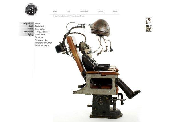 蒸汽朋克风格网站设计
