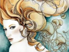 TinaDarling梦幻般的人物插画作品
