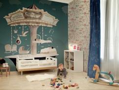 兒童房充滿想象力的壁紙設計